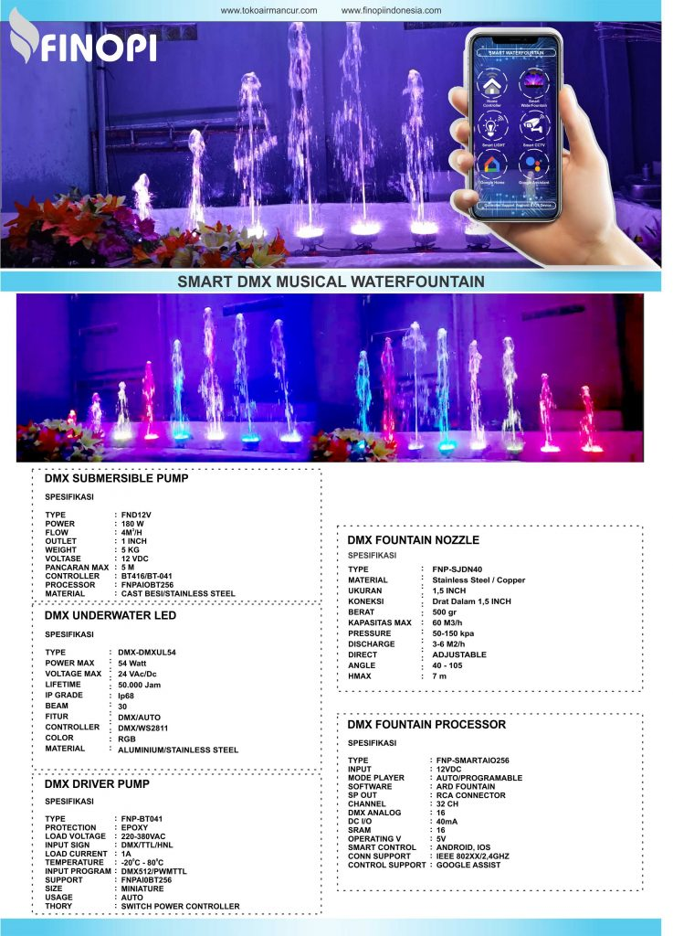 smart musical waterfountain